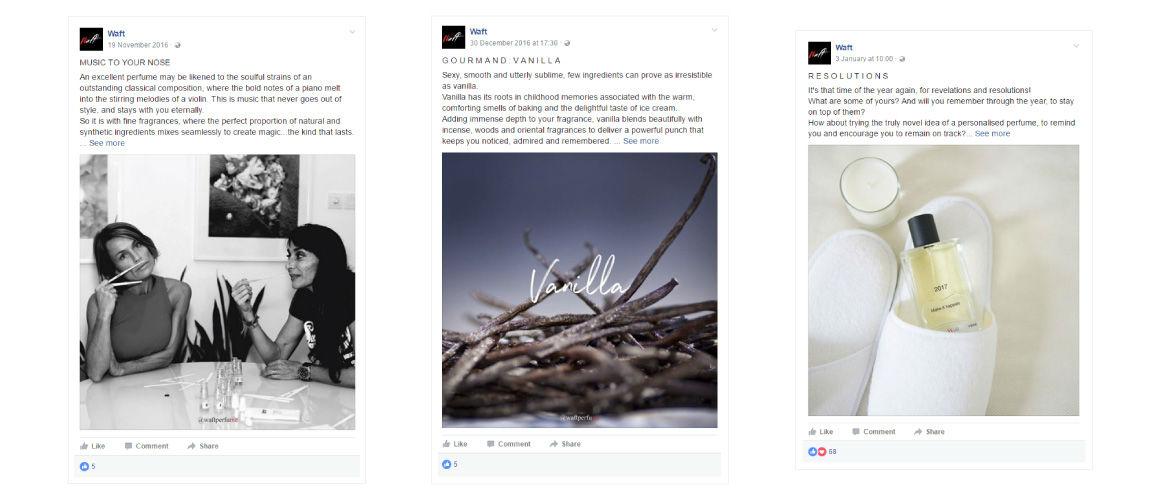 mOOnshot digital marketing agency Singapore - Waft Facebook cards
