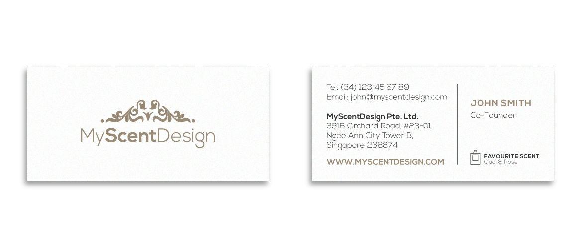 mOOnshot digital marketing agency Singapore - MyScentDesign Business Card
