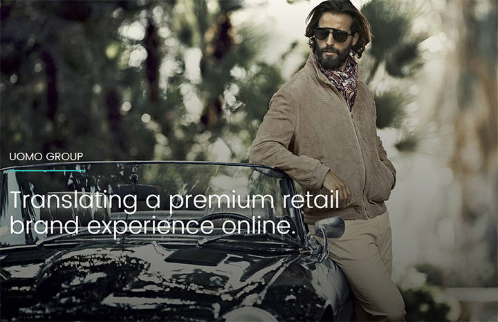 Uomo Group Luxury Menswear Website Design and Development
