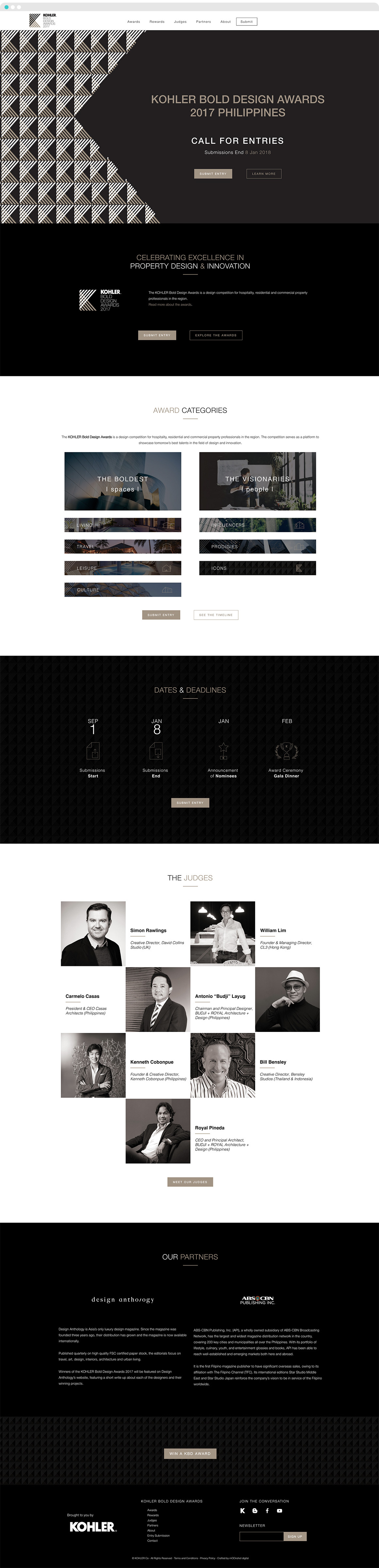 mOOnshot digital marketing agency Singapore - Website Design and Development Case Study - Kohler Homepage